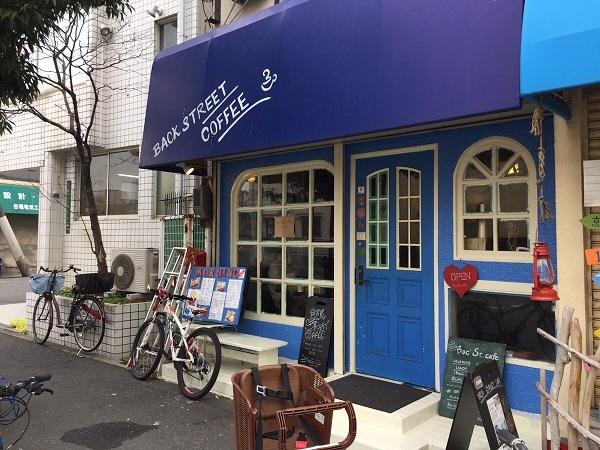 バックストリートコーヒー外観