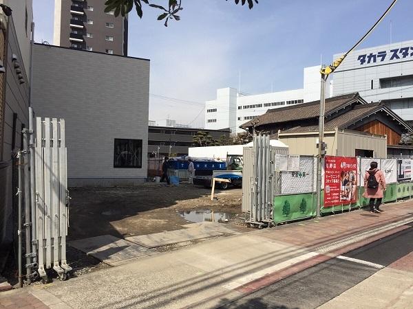 工事中のラーメン魁力屋鴫野店